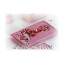 Llavero Bebé con osito rosa
