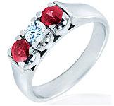 anillos y alianzas de boda con Rubi de Diamond Iberica