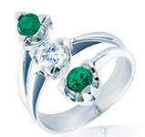 anillos y alianzas de boda con Esmeraldas de Diamond Iberica