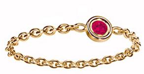 anillos y alianzas de boda con Rubi de Dior