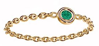 anillos y alianzas de boda con Esmeraldas de Dior