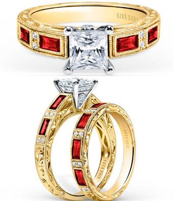 anillos de compromisos y alianzas con Rubi