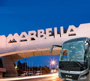 Alquiler de autobuses para bodas en Marbella