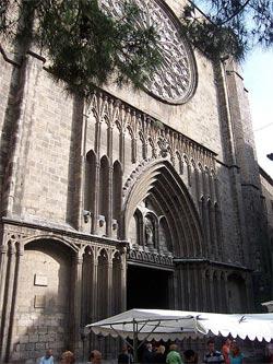 iglesia santa maria del pi barcelona