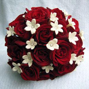 Ramo de novia rosas en rojo