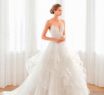 Vestidos de novia corte princesa Aire Barcelona 2020