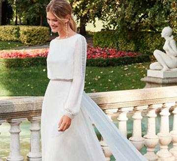 Vestidos de novia sencillos Aire Barcelona 2020