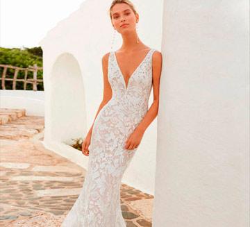 Vestidos de novia corte sirena Aire Barcelona 2020