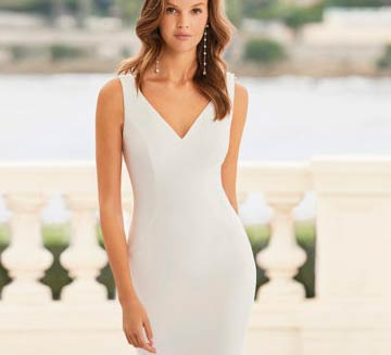 Vestidos de novia sencillos Aire Barcelona 2021