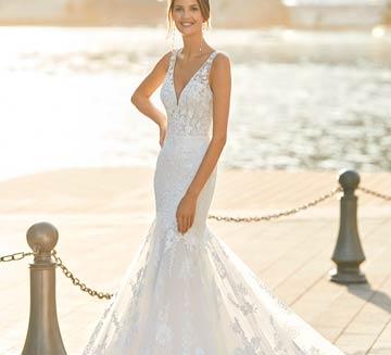 Vestidos de novia corte sirena Aire Barcelona 2021