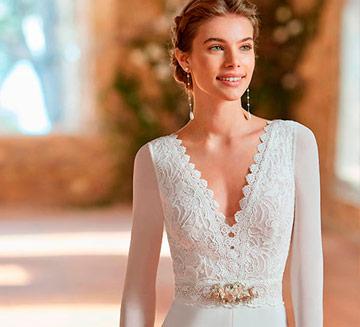 Vestidos de novia con mangas Aire Barcelona 2022