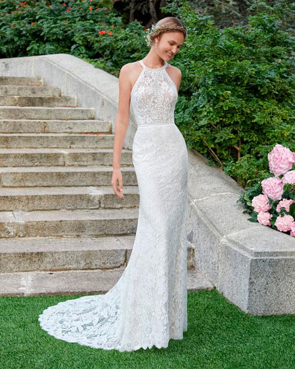 vestido de novia de corte sirena - Aire barcelona 2020 Naiara