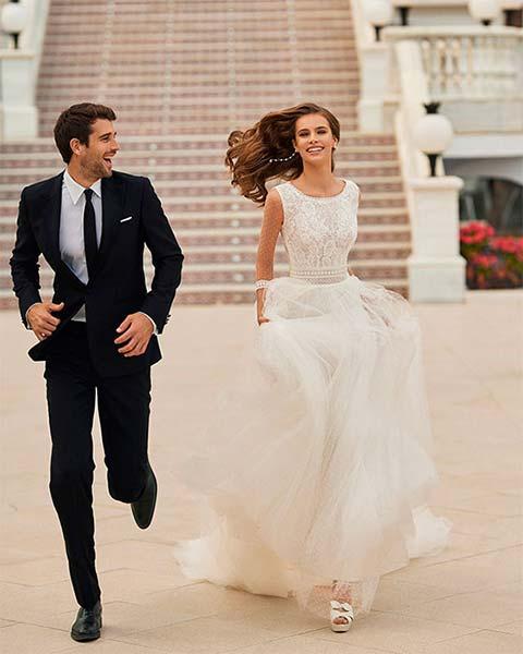 Aire barcelona novias 2022 vestido de novia Deseo