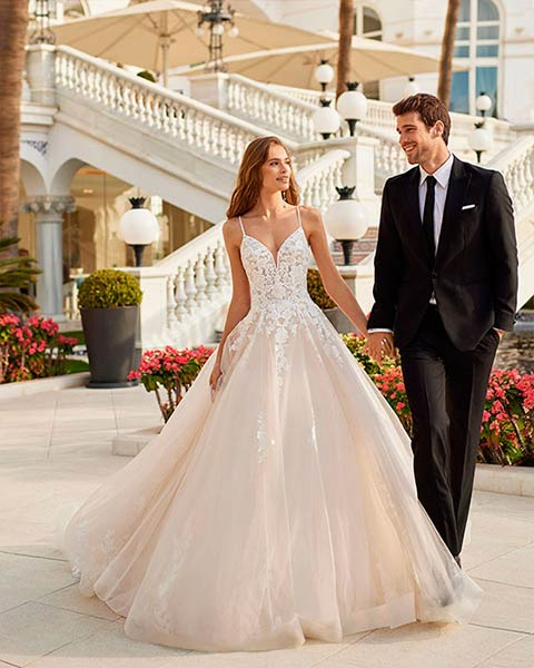 Aire barcelona novias 2022 vestido de novia Delfin