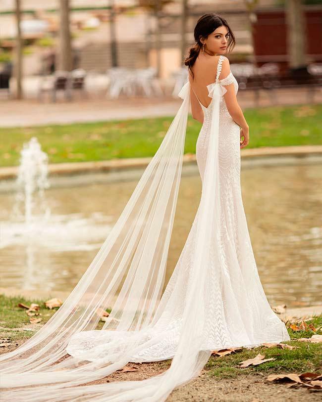 vestidos de novia de corte sirena de Alma Novias 2020 - Olina