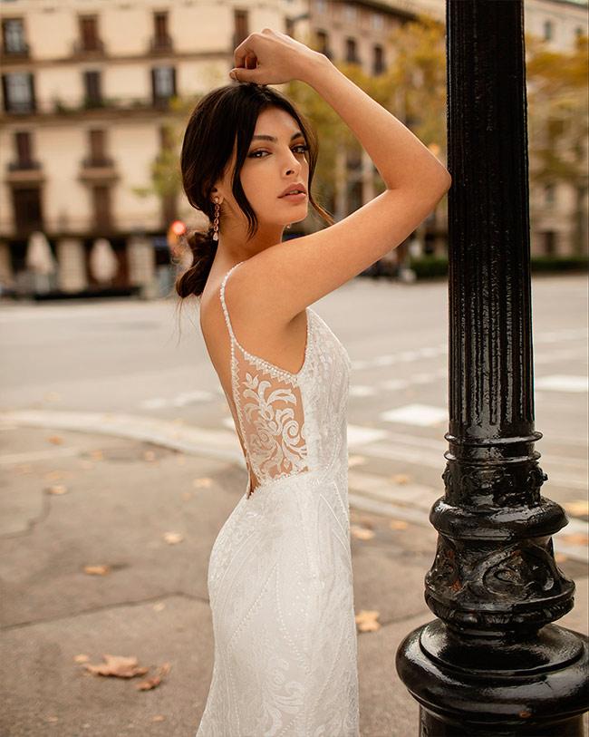 Alma Novia vestidos efecto tattoo lace 2020 Olympus