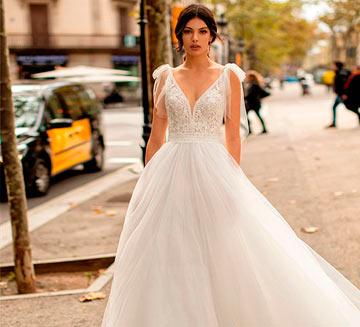 Vestidos de novia corte princesa Alma Novia