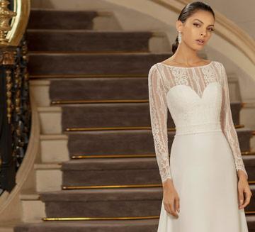 Vestidos de novia sencillos Alma Novia