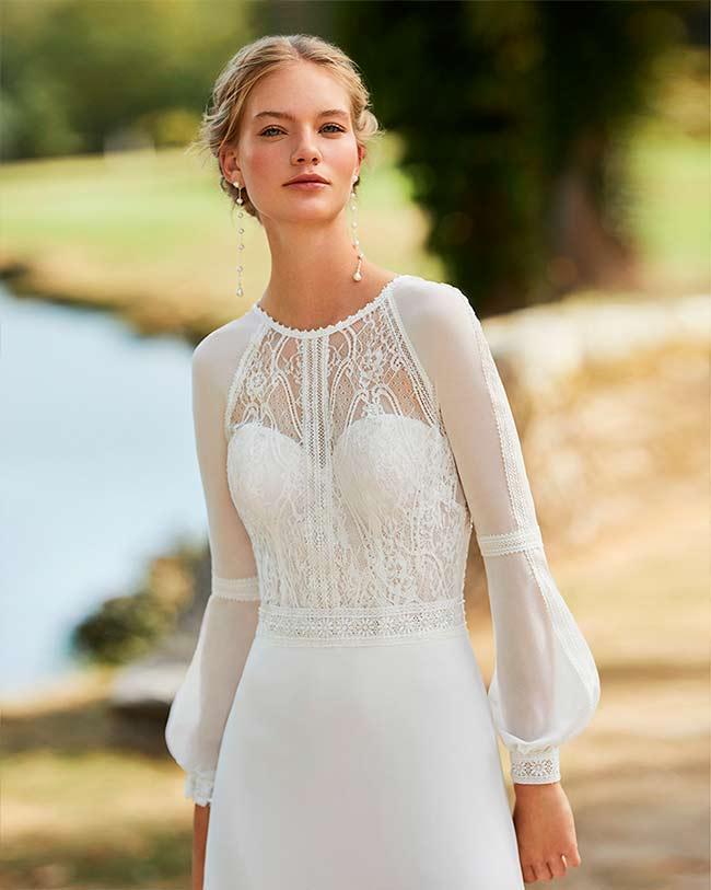 Vestido de Novia Medieval de Alma Novias 2021 Wary
