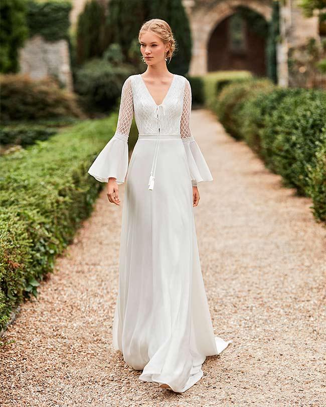 Vestido de Novia con escote en v de Alma novia 2021 Wasey