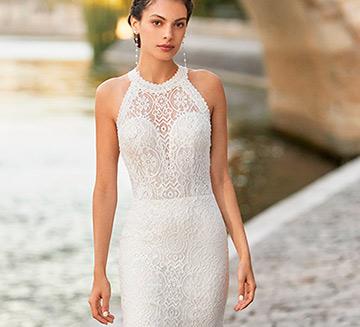 Vestidos de novia corte encajes Alma Novia