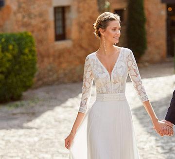 Vestidos de novia de encajes Alma Novia