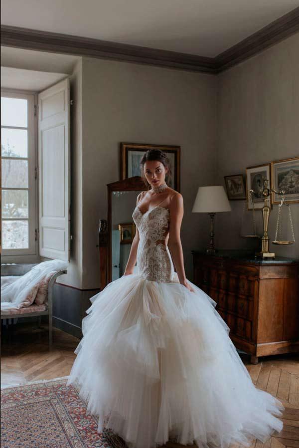 vestidos de novia efecto tatuaje