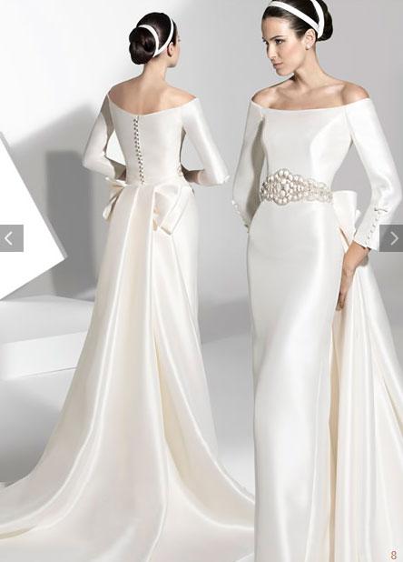 vestidos de novia sencillos de franc sarabia
