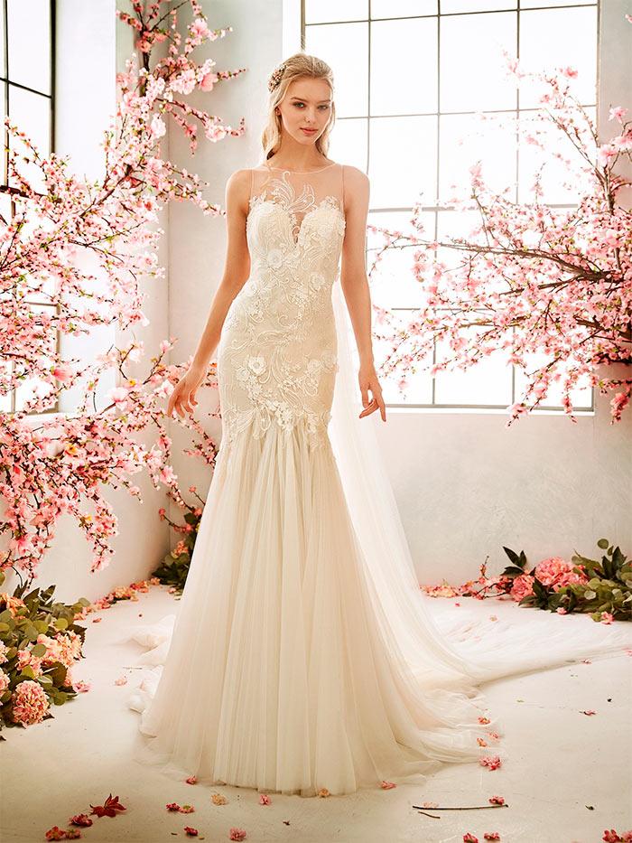 La sposa vestidos con escote corazón