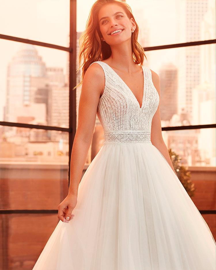 Vestido de Novia de corte Princesa más originales de Luna Novia 2020