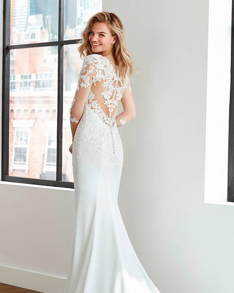 Vestido de novia efecto tatuaje de Luna Novia 2020 Larios