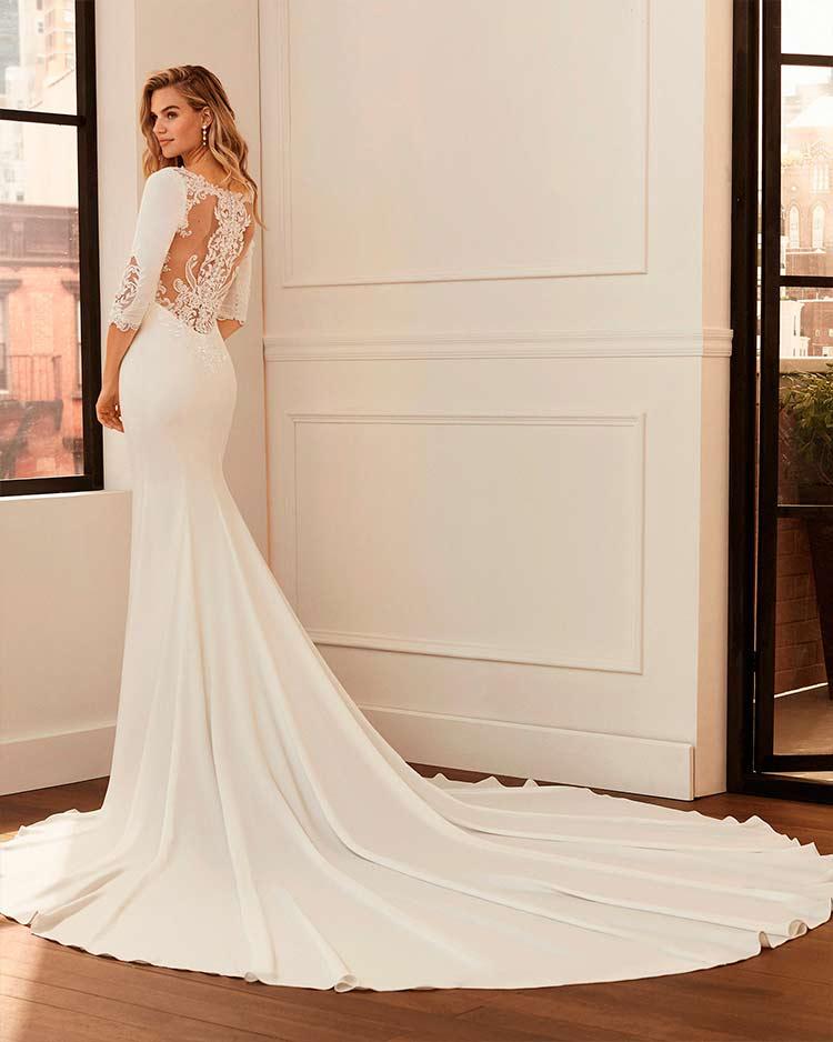vestidos de novia efecto tattoo lace