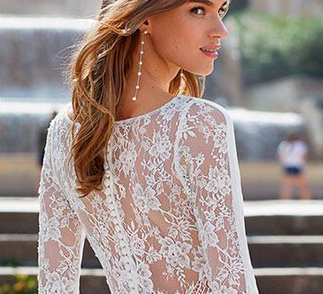 Vestidos de novia de encajes Luna Novias