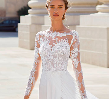 Vestidos de novia con mangas Luna Novias