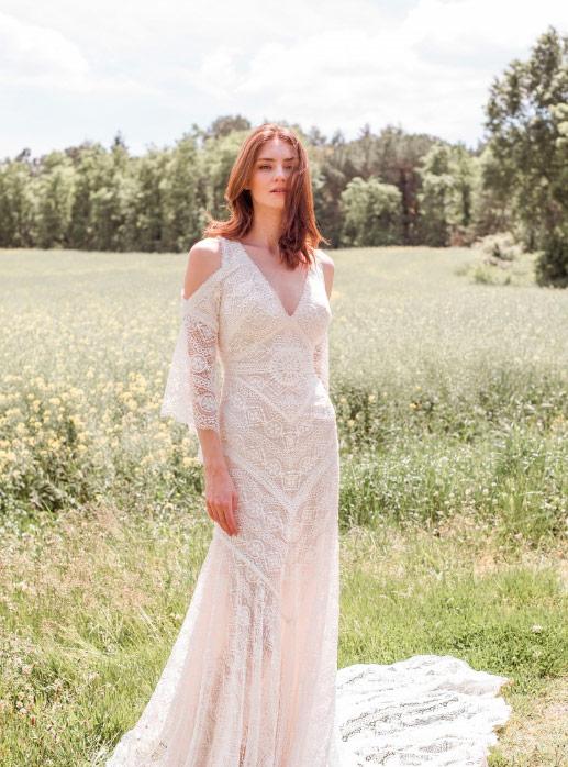Vestido de Novia con escote en v de Novia D'Art 2021 Angie