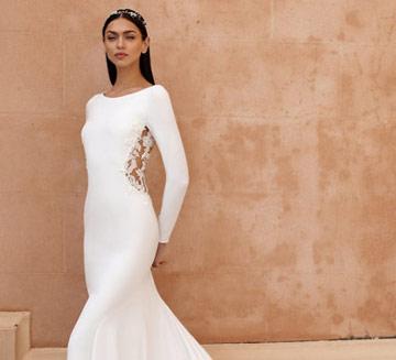 Vestidos de novia corte sencillos Pronovias
