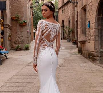 los mejores Vestidos de novia efecto tatuaje del 2020