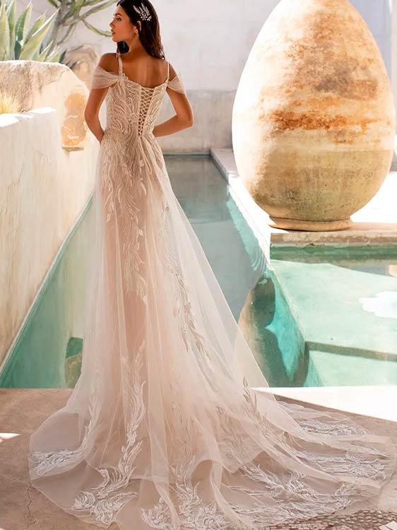 Pronovias vestidos de novia de encaje 2021 Hunter