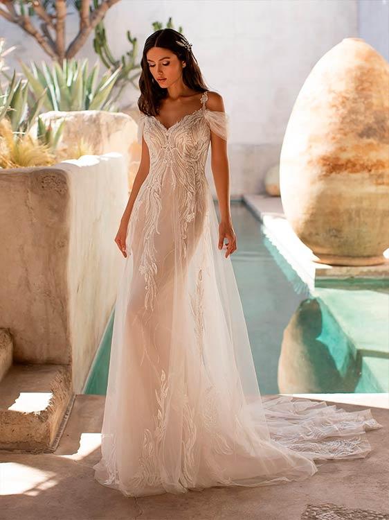 Pronovias 2021 vestidos de novia de encaje Hunter