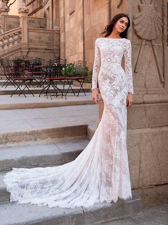 pronovias 2021 vestidos de novias modelo Telesto