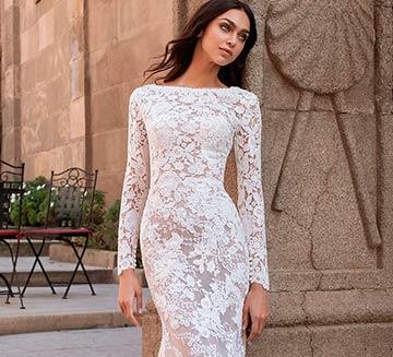 Vestidos de novia corte encajes Pronovias