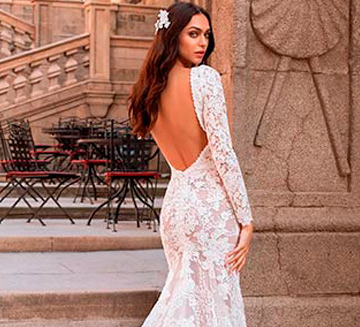 los mejores Vestidos de novia de con mangas del 2021