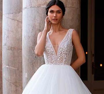 los mejores Vestidos de novia con escote en v de pronovias del 2021