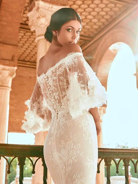 Pronovias Vestido de novia con mangas 2022 Paulanda