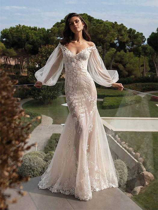 Pronovias Vestido de novia con mangas 2022 Talia