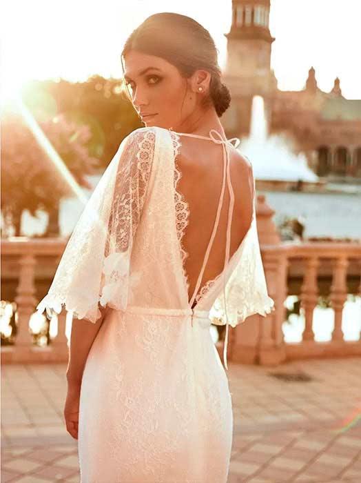 Pronovias Vestido de novia con mangas 2022 Roc