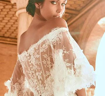 Vestidos de novia corte encajes Pronovias 2022
