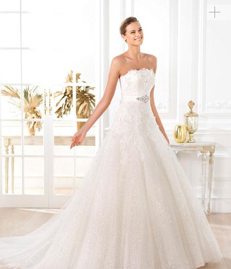 pronovias 2014 vestido liceria modelo lavianne - vestido de novia
