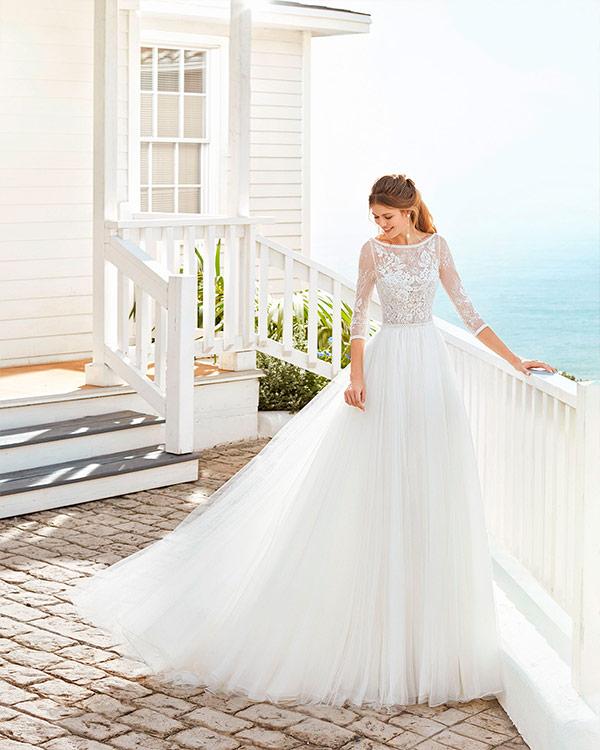 Vestido de Novia de corte Princesa más originales de Rosa Clará 2020
