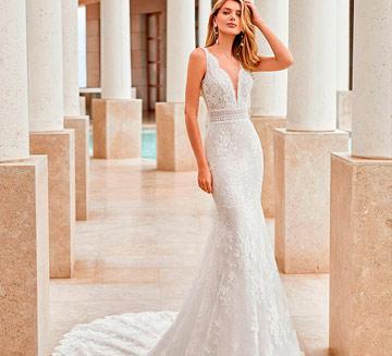 Vestidos de novia de sirena Rosa Clára